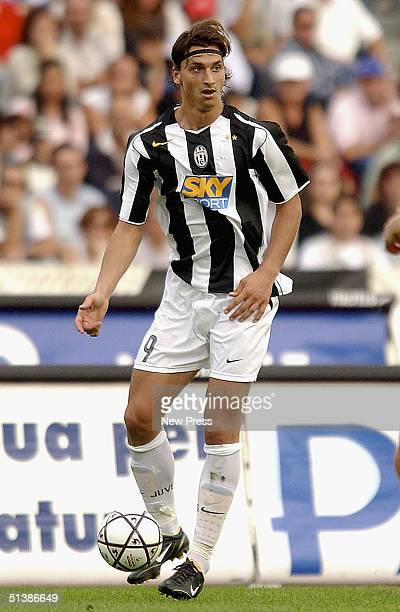 Zlatan Ibrahimovic of Juventus in action during the Serie A match played at the Friuli stadium October 3 2004 in Parma Italy