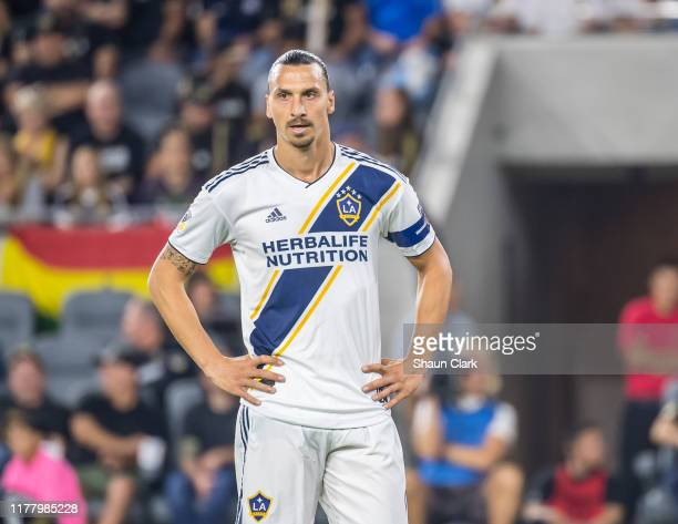 Zlatan Ibrahimovic of Los Angeles Galaxy during the MLS Western Conference Semi-final between Los Angeles FC and Los Angeles Galaxy at the Banc of...