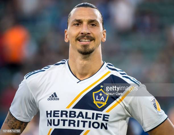 Zlatan Ibrahimovic of Los Angeles Galaxy prior to the Los Angeles Galaxy's MLS match against Colorado Rapids at the StubHub Center on August 14 2018...