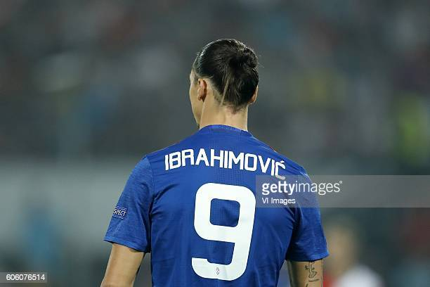 Zlatan Ibrahimovic of Manchester United during the Europa League group A match between Feyenoord and Manchester Uinited on September 15 2016 at the...
