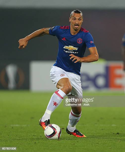 Zlatan Ibrahimovic of Manchester United during the UEFA Europa League match between Feyenoord and Manchester United at Feijenoord Stadion on...