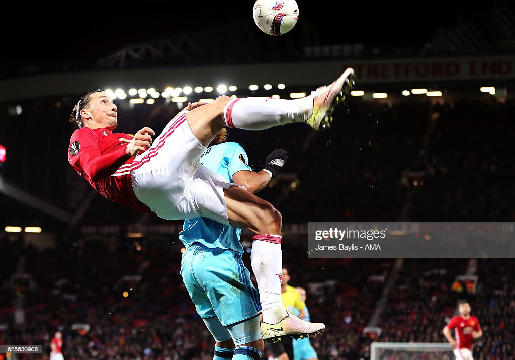 Zlatan Ibrahimovic of Manchester United during the UEFA Europa League match between Manchester United FC and Feyenoord at Old Trafford on November 24, 2016 in Manchester, England.