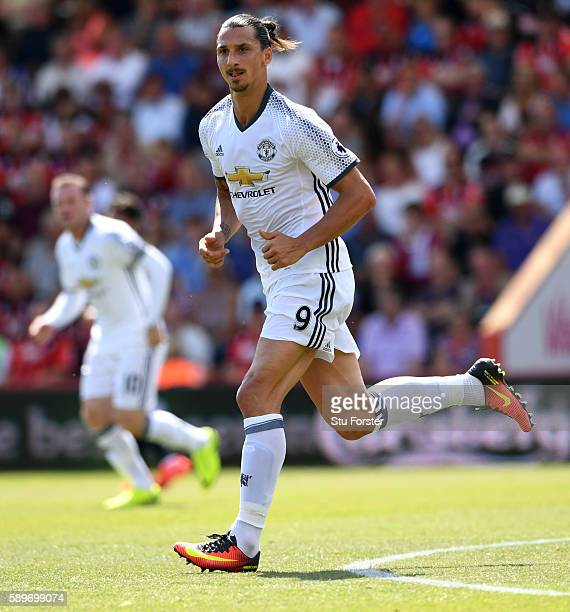 Zlatan Ibrahimovic of Manchester United in action during the Premier League match between AFC Bournemouth and Manchester United at Vitality Stadium...
