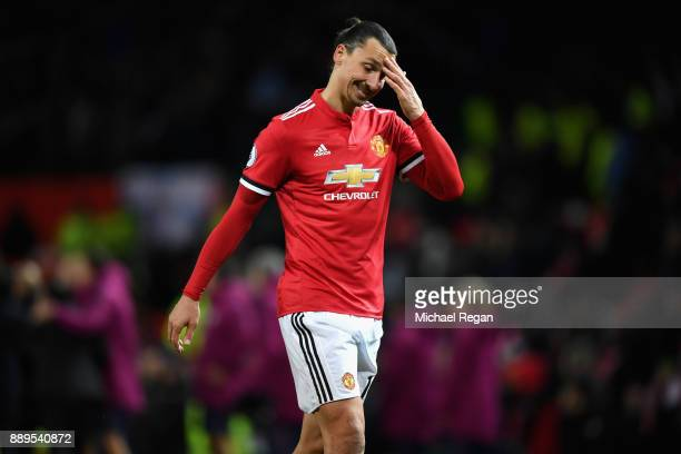 Zlatan Ibrahimovic of Manchester United looks dejected after the Premier League match between Manchester United and Manchester City at Old Trafford...