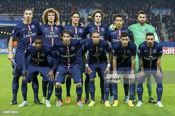 Zlatan Ibrahimovic of Paris SaintGermain David Luiz of Paris SaintGermain Edison Cavani of Paris SaintGermain Adrien Rabiot of Paris SaintGermain...