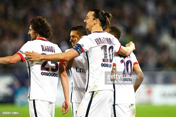 Zlatan Ibrahimovic of Paris SG during the French Ligue 1 match between FC Girondins de Bordeaux and Paris Saint-Germain at Nouveau Stade de Bordeaux...