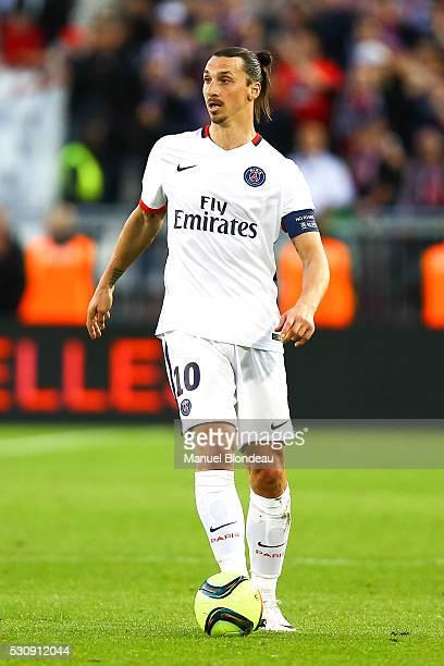 Zlatan Ibrahimovic of Paris SG during the French Ligue 1 match between FC Girondins de Bordeaux and Paris SaintGermain at Nouveau Stade de Bordeaux...