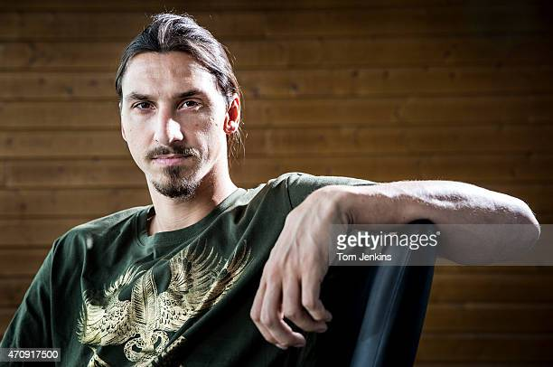 Zlatan Ibrahimovic of PSG and Sweden poses for a portrait at the Paris St Germain training centre in St GerminenLaye near Paris on October 3 2014 in...