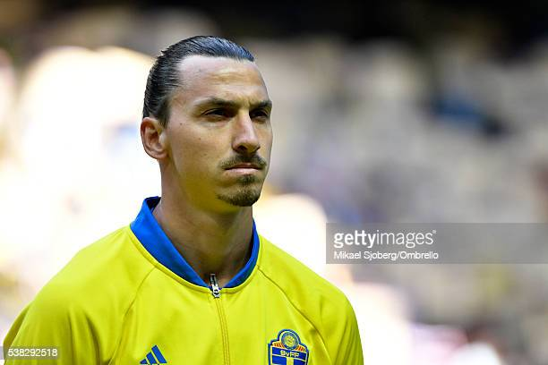 Zlatan Ibrahimovic of Sweden before the international friendly between Sweden and Wales at Friends Arena on June 5 2016 in Solna Sweden