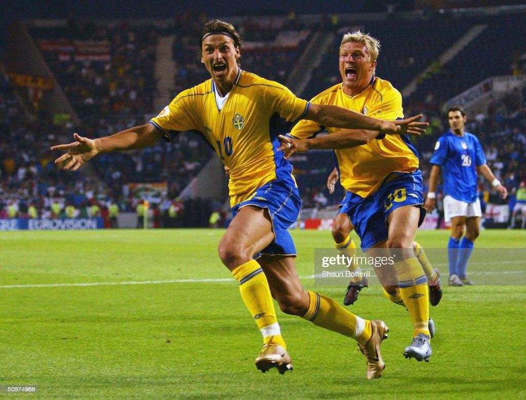 Euro 2004: Italy v Sweden : News Photo