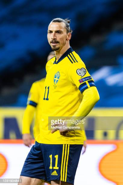 Zlatan Ibrahimovic of Sweden during the FIFA World Cup 2022 Qatar qualifying match between Sweden and Georgia on March 25, 2021 in Stockholm, Sweden.