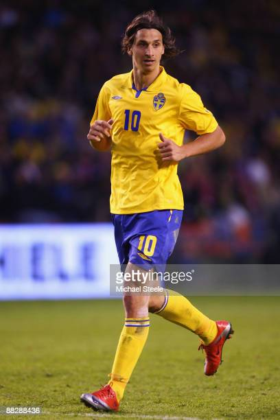 Zlatan Ibrahimovic of Sweden during the FIFA2010 World Cup Qualifying Group 1 match between Sweden and Denmark at the Rasunda Stadium on June 6 2009...