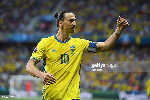 Zlatan Ibrahimovic of Sweden pictured during the UEFA Euro 2016 Group E match between Sweden and Belgium at Stade de Nice in Nice, France on June 22,...
