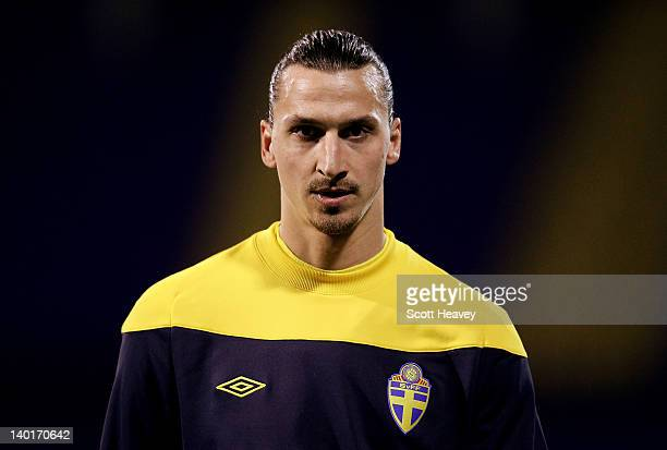 Zlatan Ibrahimovic of Sweden prior to the International Friendly between Croatia and Sweden on February 29 2012 in Zagreb Croatia