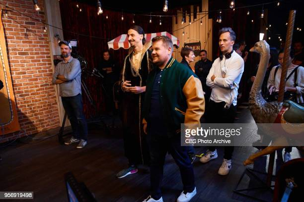 Zlatan Ibrahimovic performs in a sketch with James Corden during 'The Late Late Show with James Corden' Wednesday May 9 2018 On The CBS Television...