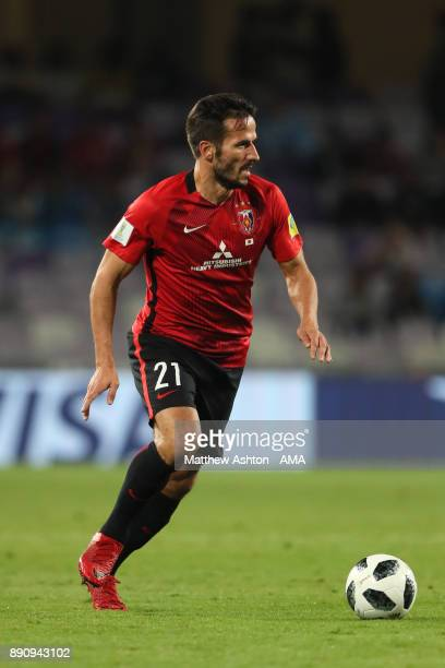 Zlatan Ljubijankic of Urawa Red Diamonds in action during the FIFA Club World Cup UAE 2017 fifth place playoff match between Wydad Casablanca and...