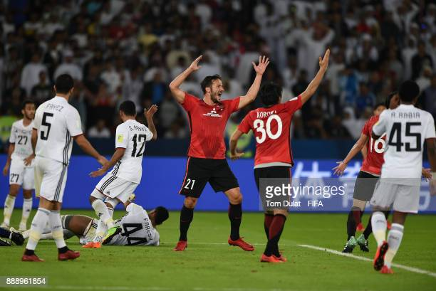 Zlatan Ljubijankic of Urawa Red Diamonds reacts during the FIFA Club World Cup UAE 2017 match between Al Jazira and Urawa Red Diamonds at Zayed...