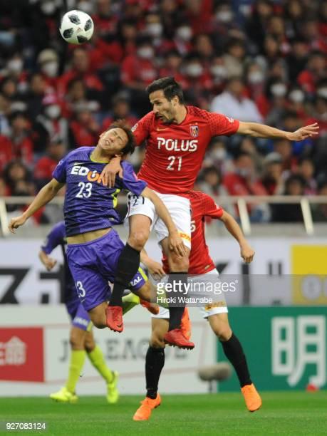 Zlatan of Urawa Red Diamonds in action during the JLeague J1 match between Urawa Red Diamonds and Sanfrecce Hiroshima at Saitama Stadium on March 4...