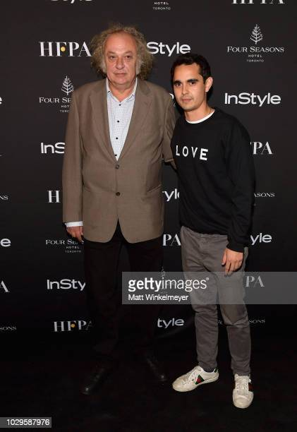 Zlatko Buric and Max Minghella attend 2018 HFPA and InStyle's TIFF Celebration at the Four Seasons Hotel on September 8 2018 in Toronto Canada
