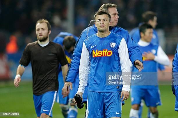 Zlatko Dedic of Bochum frustration after during the 2 Bundesliga match between FC St Pauli and VfL Bochum at Millerntor Stadium on November 12 2012...