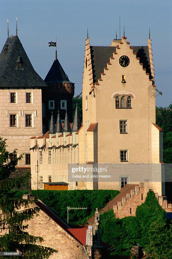 Zleby Castle, Zleby, Czech Republic : Stock Photo