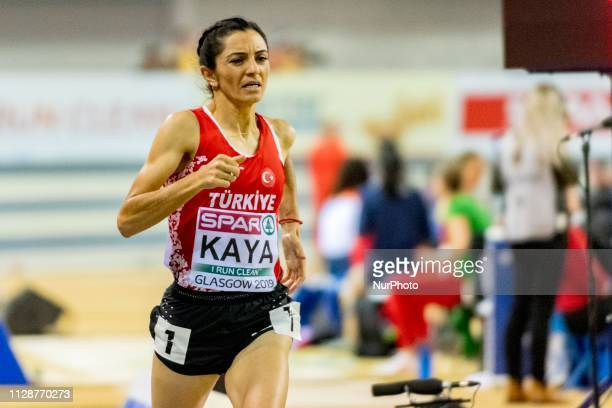 KAYA zlem TUR competing in the 1500m Women event during day ONE of the European Athletics Indoor Championships 2019 at Emirates Arena in Glasgow...