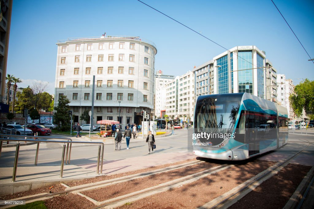 İzmir tramvay line : Stock Photo