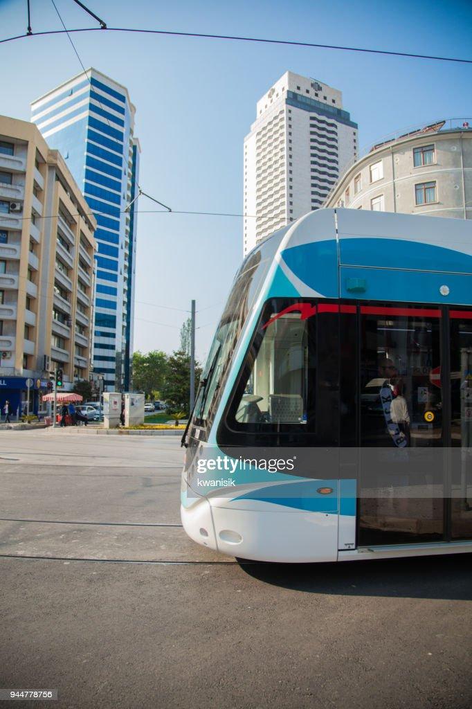 İzmir tramvay line : Stock Photo