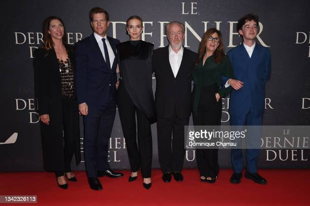 """Zoé Bruneau, Kevin J. Walsh, Jodie Comer, Ridley Scott, Nicole Holofcener, and Alex Lawther attend the French premiere of 20th Century Studios' """"The..."""