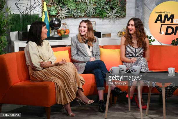 Zoë Chao Emma Nelson and Troian Bellisario at BuzzFeed's AM to DM on August 13 2019 in New York City