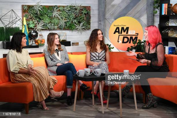 Zoë Chao Emma Nelson Troian Bellisario and Alex Berg at BuzzFeed's AM to DM on August 13 2019 in New York City