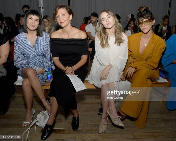 Zoë Chao Maggie Gyllenhaal Suki Waterhouse and Calu Rivero attend the Adeam Spring/Summer 2020 Show at West Edge on September 07 2019 in New York City