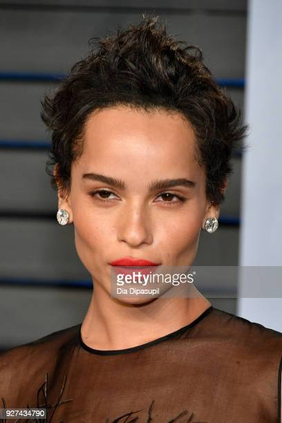 Zoë Kravitz attends the 2018 Vanity Fair Oscar Party hosted by Radhika Jones at Wallis Annenberg Center for the Performing Arts on March 4 2018 in...