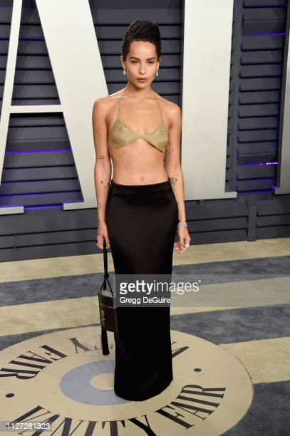 Zoë Kravitz attends the 2019 Vanity Fair Oscar Party hosted by Radhika Jones at Wallis Annenberg Center for the Performing Arts on February 24 2019...