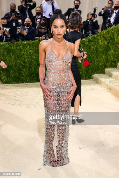 Zoë Kravitz attends The 2021 Met Gala Celebrating In America: A Lexicon Of Fashion at Metropolitan Museum of Art on September 13, 2021 in New York...
