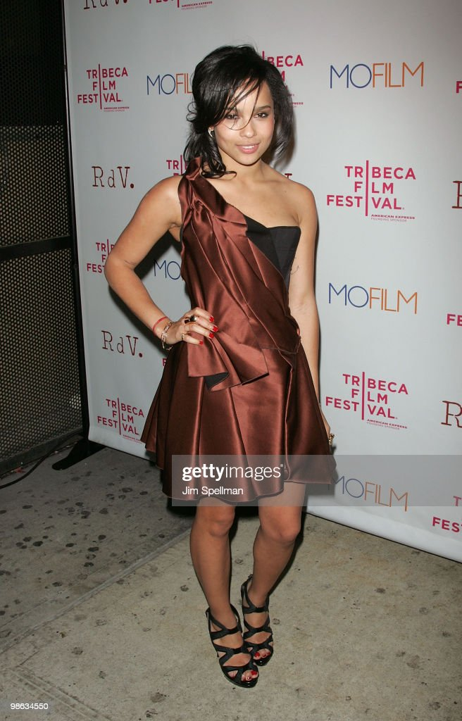 Zoë Kravitz attends the premiere of 'Beware The Gonzo' during the 9th annual Tribeca Film Festival at the RdV Lounge on April 22, 2010 in New York City.