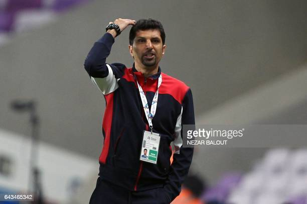 Zobahan's Iranian Head Coach Seyed Mojtaba Hoseini reacts on the sidelines during the AFC Asian Champions League Group C football match between UAE's...