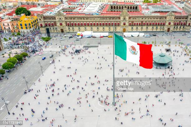zocalo square in mexico city - mexico city stock pictures, royalty-free photos & images