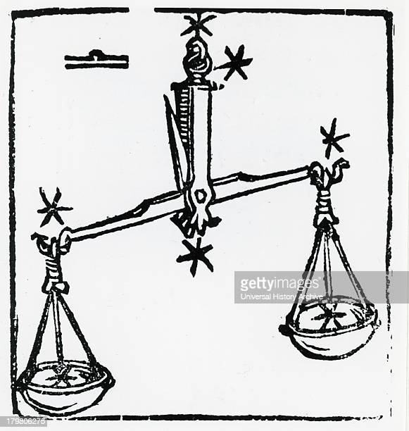 Zodiac sign of Libra From ''Sphaera mundi'' Strasburg 1539