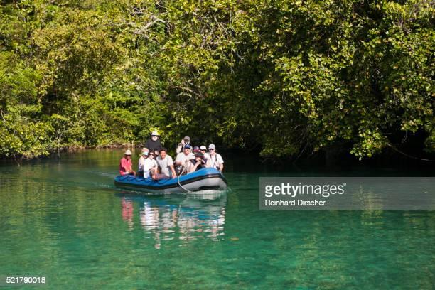 Zodiac Trip to Rock Islands at Strait of Iris, Indonesia