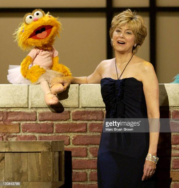 Zoe and Jane Pauley perform during a tribute to 'Sesame Street' during The 31st Annual Daytime Emmy Awards