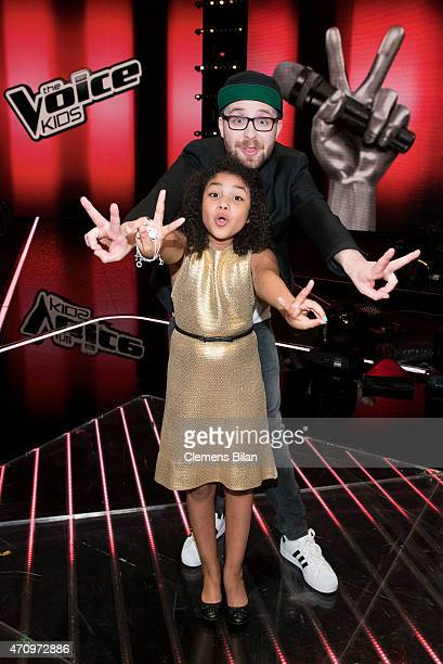 Zoe and Mark Forster attend the 'The Voice Kids' Finals on April 24 2015 in Berlin Germany