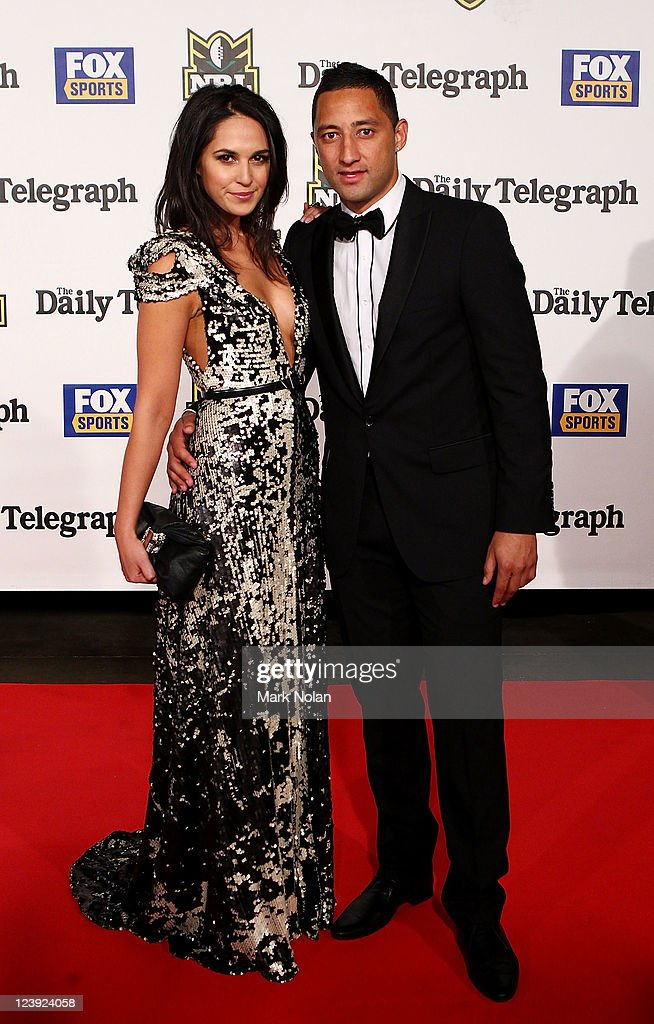 Zoe Balbi and Benji Marshall pose on the red carpet before the 2011 Dally M Awards at the Royal Hall of Industries, Moore Park on September 6, 2011 in Sydney, Australia.
