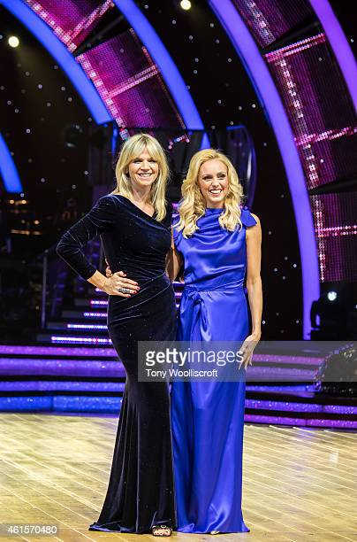 Zoe Ball and Camilla Dallerup attend a photocall to launch the Strictly Come Dancing Live Tour 2015 at Birmingham Barclaycard Arena on January 15,...