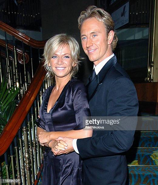 Zoe Ball and Ian Waite during Rainbow Glass Slipper Ball 2005 at London Hilton in London Great Britain