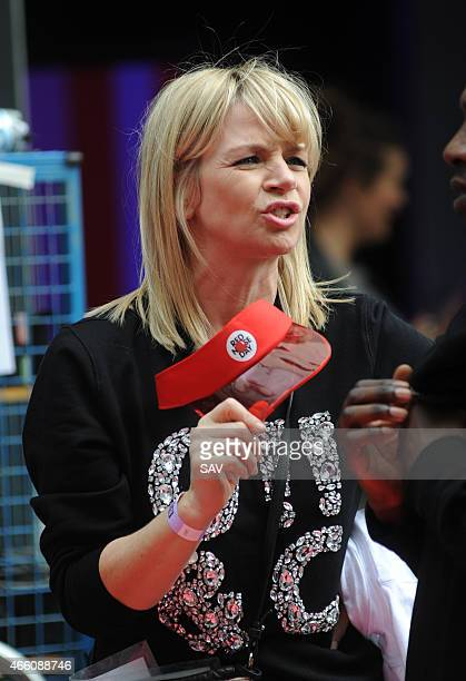 Zoe Ball at The BBC for the Dermot O'Leary dance marathon in aid of Comic Relief on March 13 2015 in London England