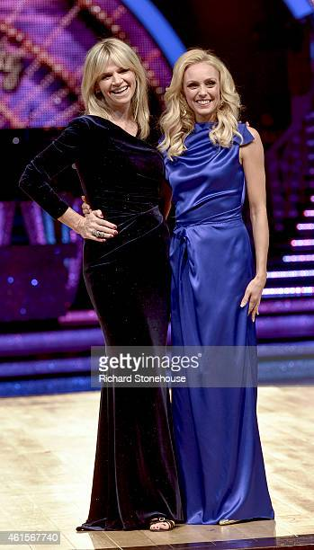 Zoe Ball & Camilla Dallerup attend a photocall to launch the Strictly Come Dancing Live Tour 2015 at Birmingham Barclaycard Arena on January 15, 2015...