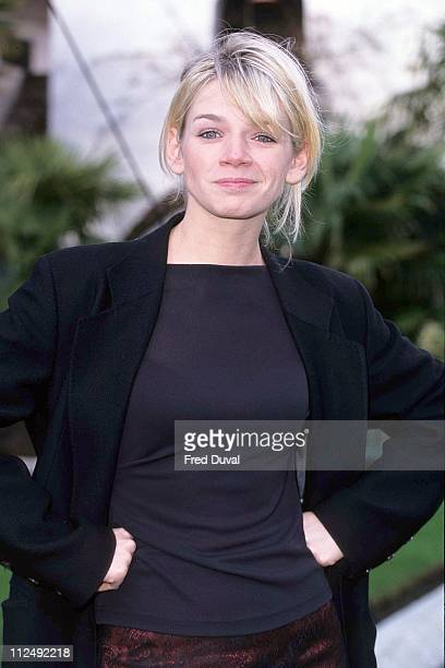 Zoe Ball during BBC TV Christmas Schedule Launch December 1 1997 at London in London United Kingdom