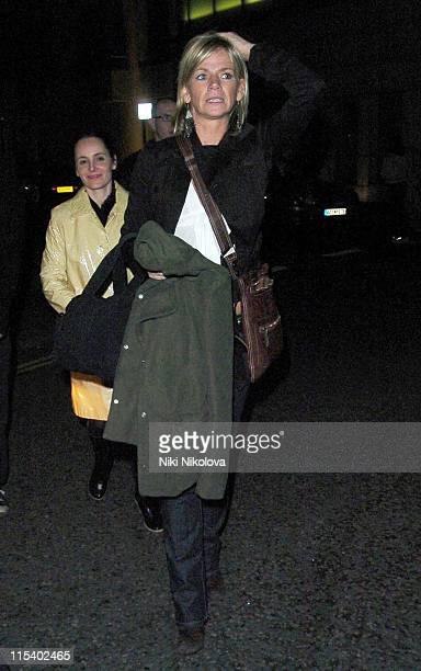 Zoe Ball during Celebrity Sightings at Nobu in London January 31 2006 at Nobu in London Great Britain