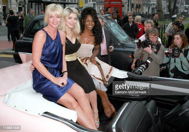 Zoe Ball Holly Willoughby and Sinitta during Grease Is The Word Press Photocall at Bloomsbury Ballroom in London Great Britain